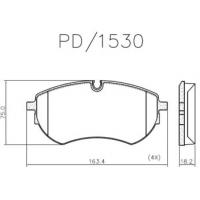 PASTILHA FREIO - DIANTEIRA VW AMAROK 3.0 V6 2018/... FRASLE