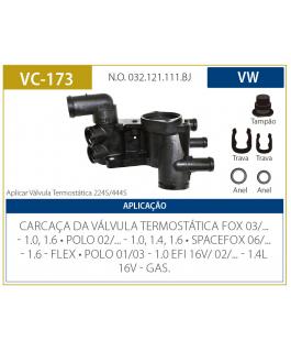 CAVALETE DE DIST. DE AGUA - FOX 09/... 1.0 1.6 POLO 02/... 1.0 1.4 / SPACEFOX 1.6 FLEX VALCLEI