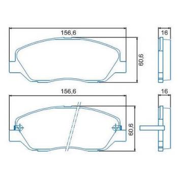 PASTILHA FREIO - GENESIS V6 3.8L 08/... SANTA FE 2.4 L F/INJ. (16V) DOHC 04/... SANTA FE V6 2.7 L F/INJ. (24V) DOHC 04/0 JURID/FERODO/STOP